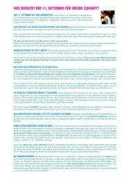 Was bedeutet der 11. September für unsere Zukunft? - TPI-Flyer