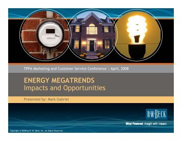 ENERGY MEGATRENDS Impacts and Opportunities