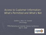 Access to Customer Information – - Texas Public Power Association!