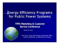 Energy Efficiency Programs - Texas Public Power Association!