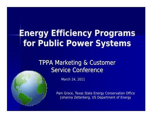 Energy Efficiency Programs - Texas Public Power Association!
