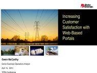 Increasing Customer Satisfaction with Web-Based Portals