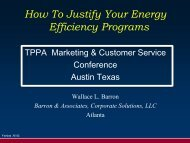 How to Justify Your Energy Efficiency Programs - Texas Public ...