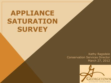 Appliance saturation survey
