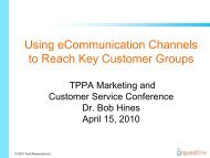 Using eCommunication Channels to Reach Key Customer Groups