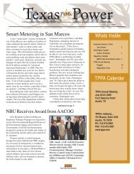 Smart Metering in San Marcos - Texas Public Power Association!