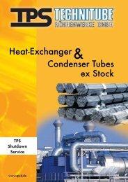 Heat Exchanger & Condenser Tubes Ex Stock - TPS TECHNITUBE ...