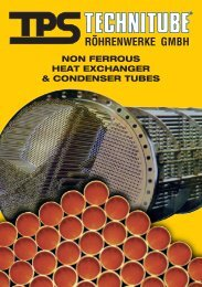 non ferrous heat exchanger & condenser tubes - TPS TECHNITUBE ...