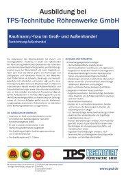 kaufmann/-frau im Groß- und Außenhandel - TPS TECHNITUBE ...