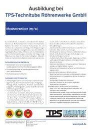 Mechatroniker/in - TPS TECHNITUBE RÖHRENWERKE GmbH