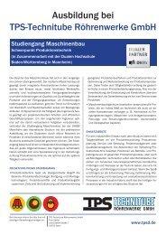 Studiengang Maschinenbau - TPS TECHNITUBE RÖHRENWERKE ...
