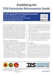 Studiengang Wirtschaftsingenieurwesen - TPS TECHNITUBE ...
