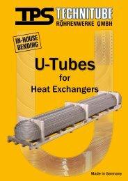 U-Tubes - TPS TECHNITUBE RÖHRENWERKE GmbH