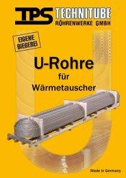 U-Rohre - TPS TECHNITUBE RÖHRENWERKE GmbH