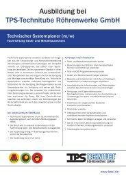 Technischer Systemplaner (m/w) - TPS TECHNITUBE ...
