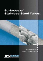 Surfaces of Stainless Steel Tubes - TPS TECHNITUBE ...