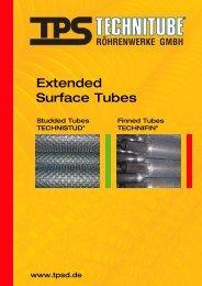 Extended Surface Tubes - TPS TECHNITUBE RÖHRENWERKE ...