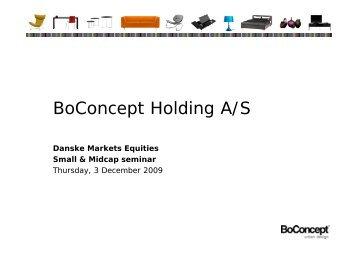 BoConcept Holding A/S - BoConcept.com