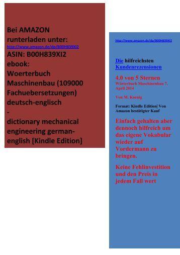 Die hilfreichsten Kundenrezensionen: Woerterbuch Wortschatz Maschinenbau deutsch-englisch
