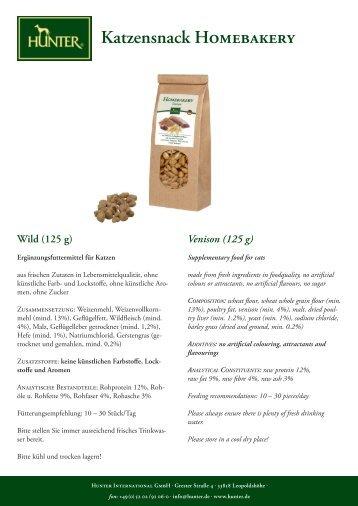 Katzensnack Homebakery Wild (125 g) - Hunter