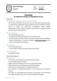 Checkliste öffentliche Anlässe - Gemeinde Illgau