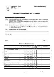 Gebührenordnung MZH - Gemeinde Illgau