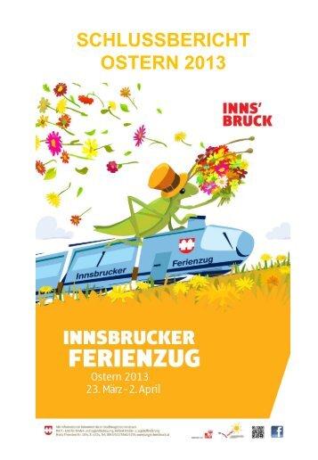 SCHLUSSBERICHT OSTERN 2013 - Junges Innsbruck