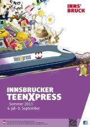 Programmheft TeenXpress - Junges Innsbruck
