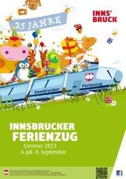 Programmheft Ferienzug - Junges Innsbruck