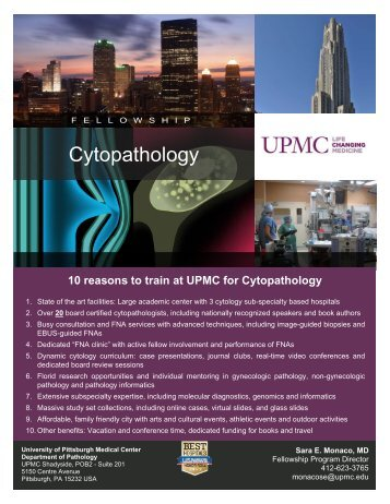 Cytopathology Fellowship Flier