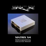 Bedienungsanleitung - BRAX - Luxury Car Audio