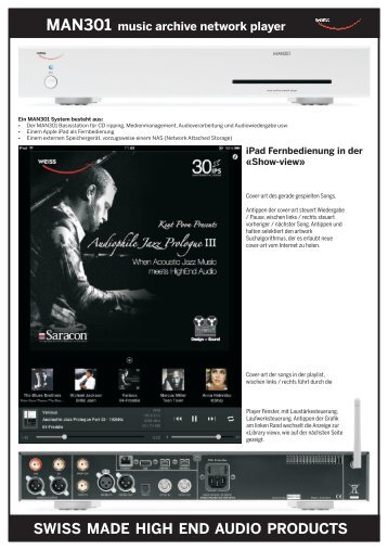 swiss made high end audio products - Audiophil-Dreams.com