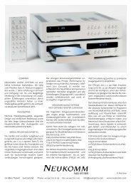 CH 8800 Thalwil Switzerland Phone +41 44 720 10 03 ... - Erni Hifi