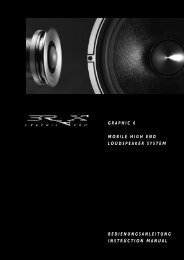 GRAPHIC PRO GRAPHIC 6 MOBILE HIGH END ... - Audiotec Fischer