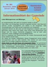 Informationsblatt der Gemeinde - Sulzfeld