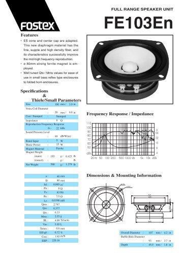 Baffle Hole Diameter - Fostex