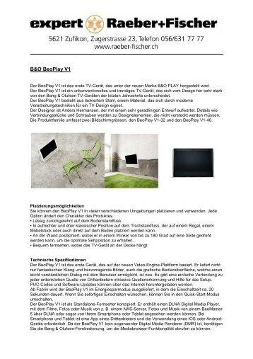 BeoPlay V 1 - Raeber+Fischer