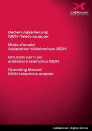 Bedienungsanleitung ISDN-Telefonadapter Mode ... - Raeber+Fischer