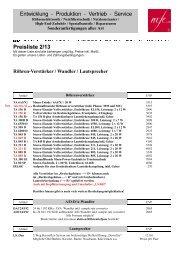 Kundenpreisliste - MF-Electronic