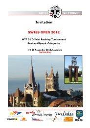 Invitation SWISS OPEN 2012 - Swiss Taekwondo