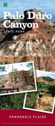 Palo Duro Canyon - Texas Parks & Wildlife Department