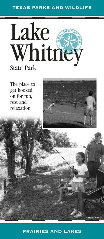 Lake Whitney State Park Rack Card - Texas Parks & Wildlife ...