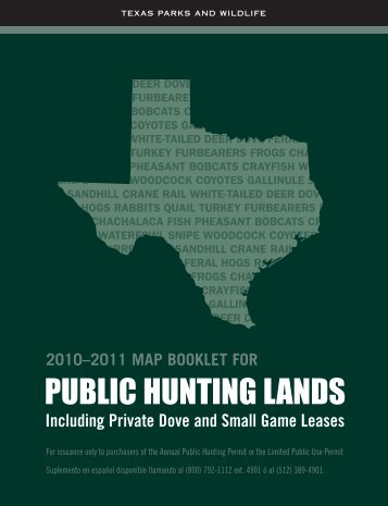 PUBLIC HUNTING LANDS - Texas Parks & Wildlife Department