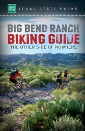 Big Bend Ranch Biking Guide - Texas Parks & Wildlife Department