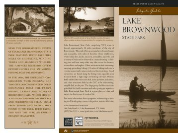 Lake Brownwood State Park Interpretive Guide - Texas Parks ...