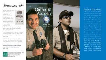 Game Warden Brochure - Texas Parks & Wildlife Department