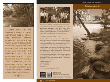 Interpretive Guide to Fort Parker State Park - Texas Parks & Wildlife ...