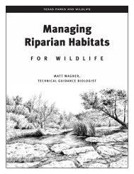 Managing Riparian Habitats - Texas Parks & Wildlife Department