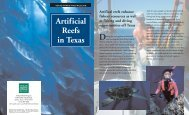Artificial Reefs in Texas Brochure - Texas Parks & Wildlife Department