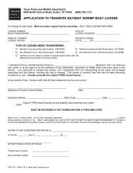 application to transfer bay/bait shrimp boat license - Texas Parks ...